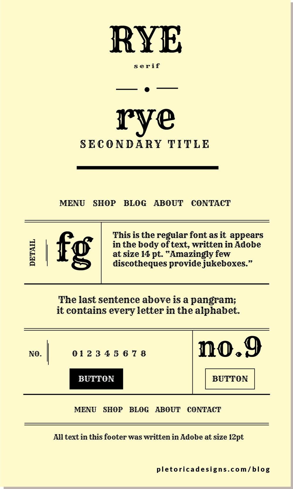 LET'S TYPE: Rye — PLETÓRICA DESIGNS