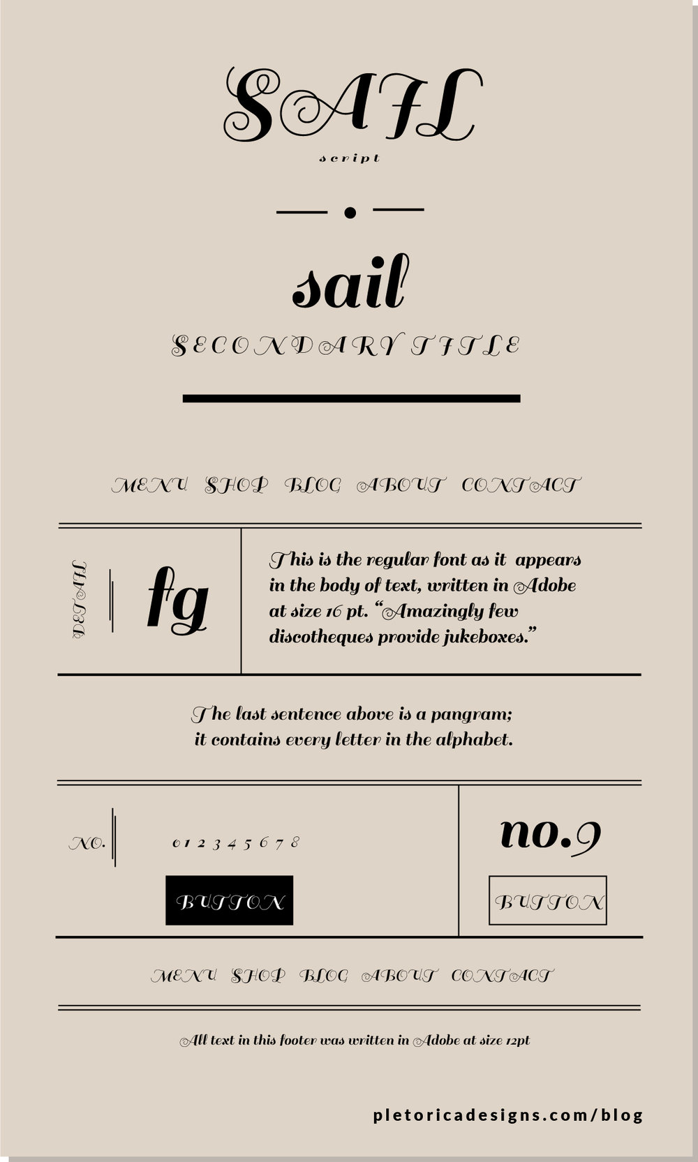 LET'S TYPE: Sail — PLETÓRICA DESIGNS