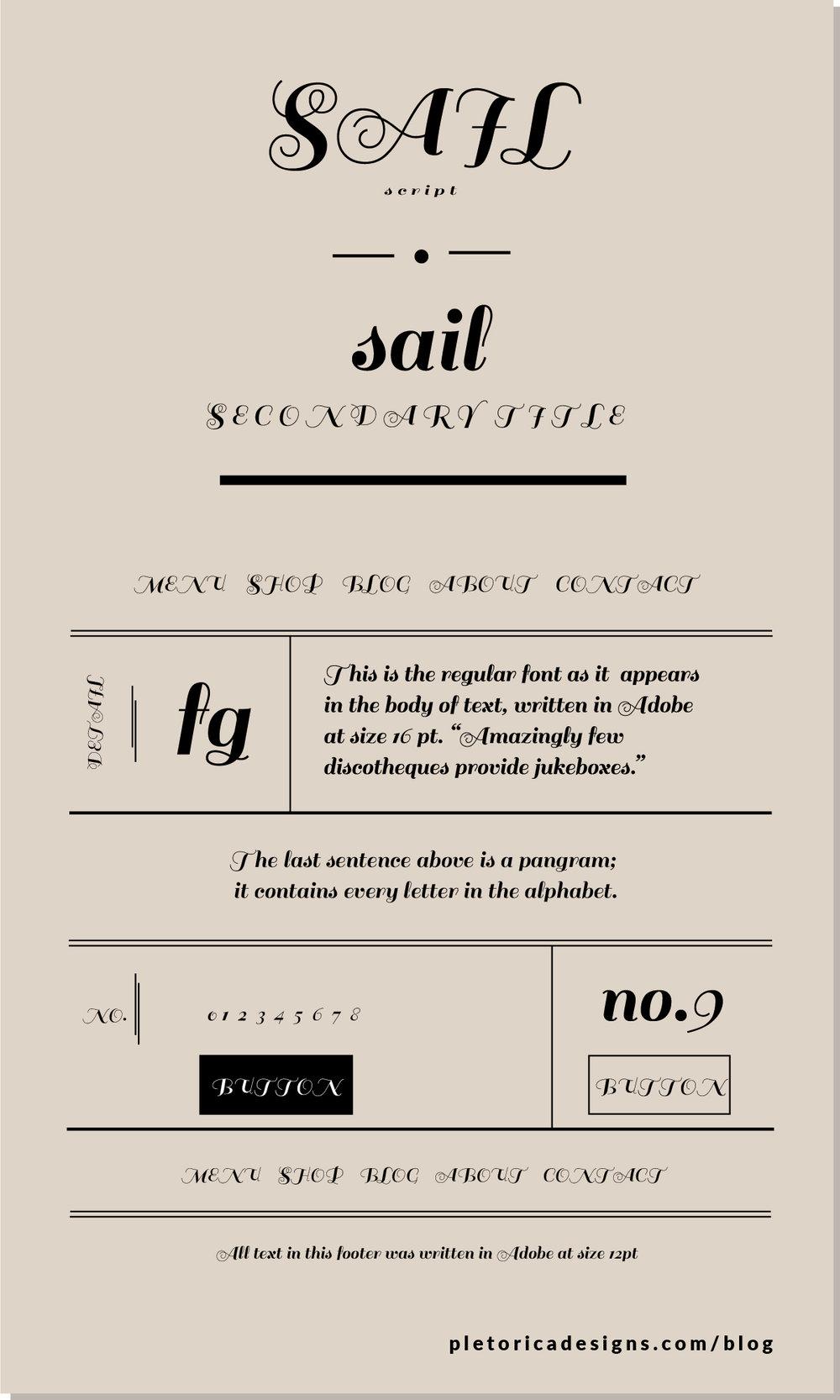 LET'S TYPE: Sail — PLETÓRICA DESIGNS
