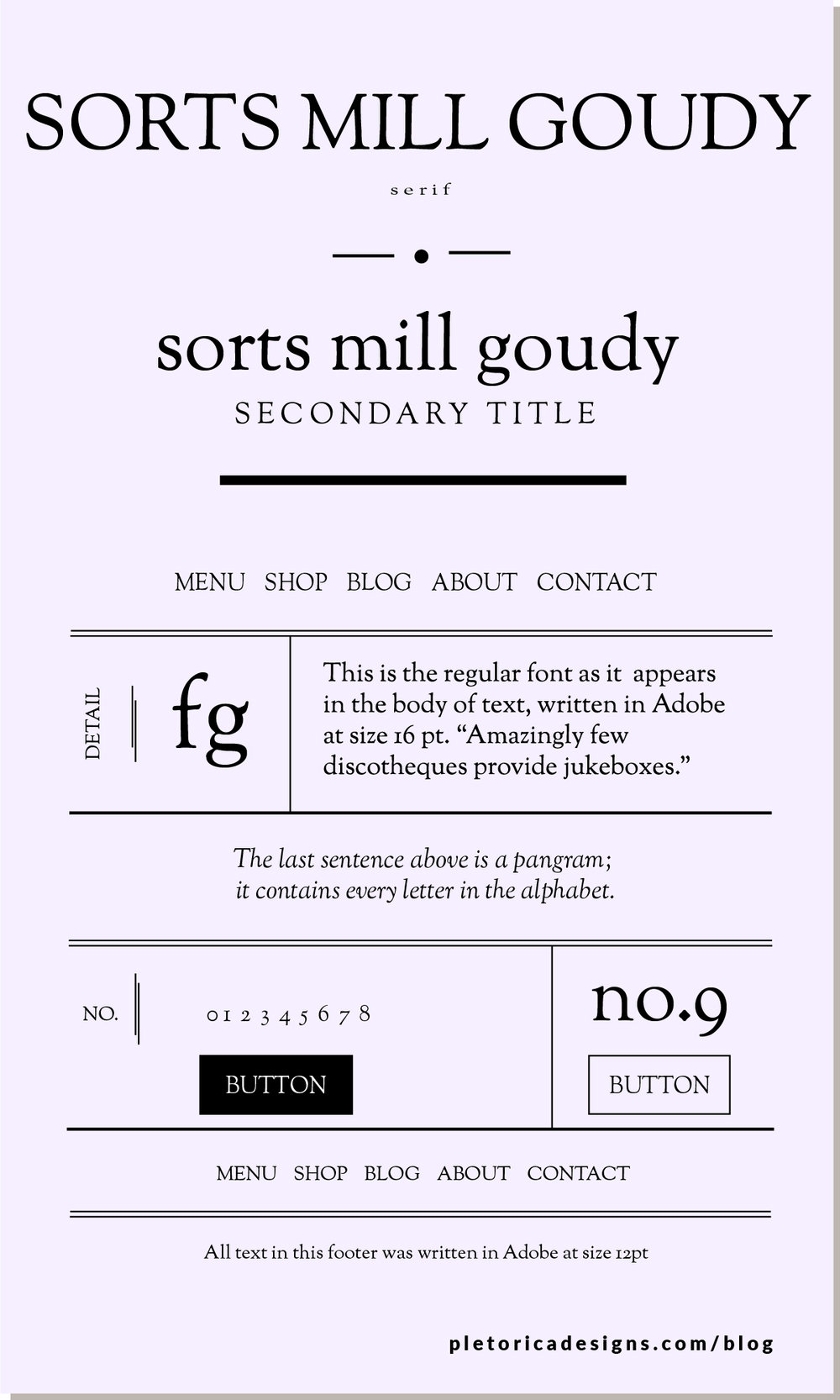 LET'S TYPE: Sorts Mill Goudy — PLETÓRICA DESIGNS