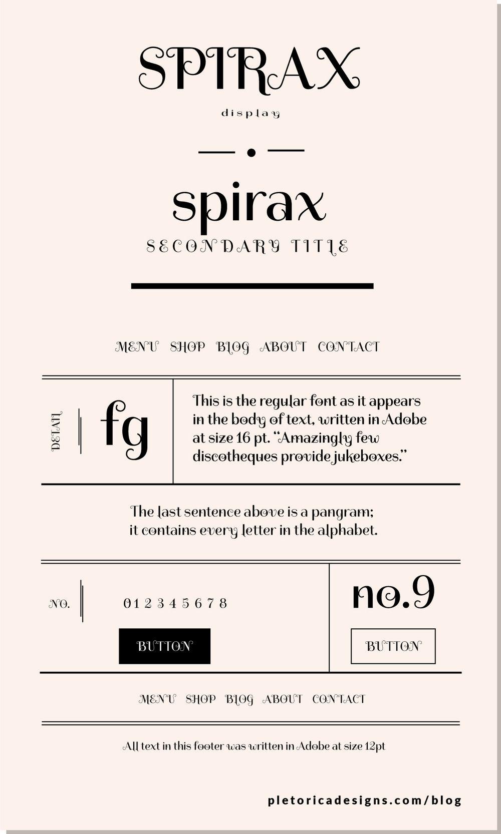 LET'S TYPE: Spirax — PLETÓRICA DESIGNS