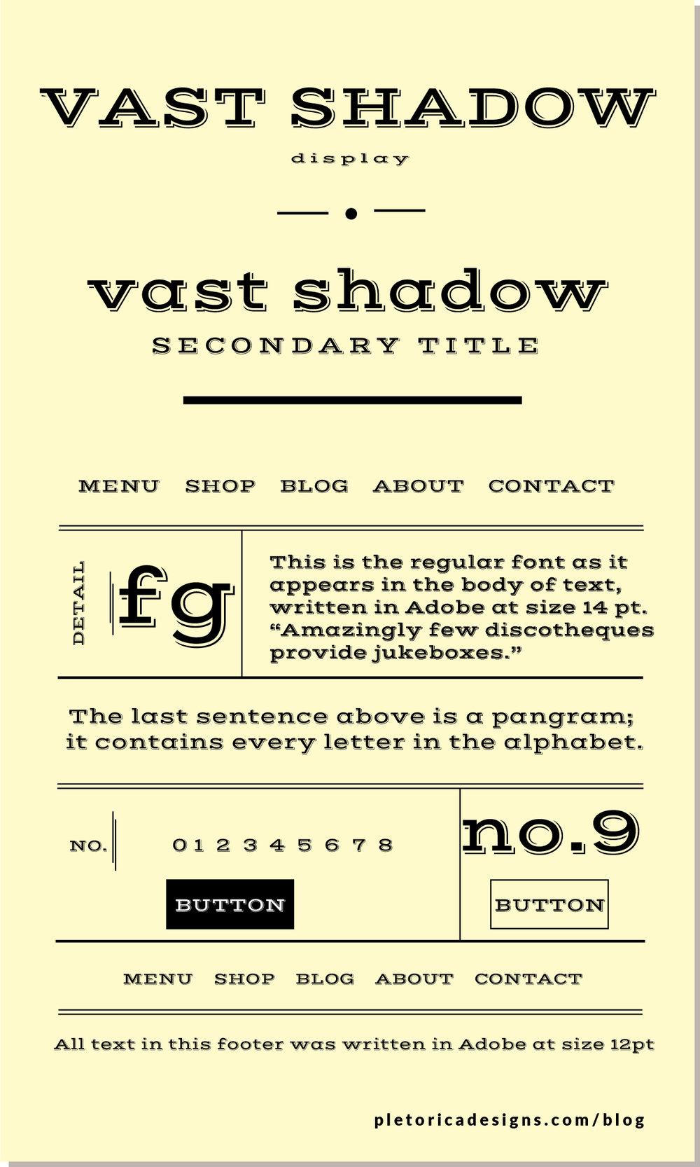 LET'S TYPE: Vast Shadow — PLETÓRICA DESIGNS