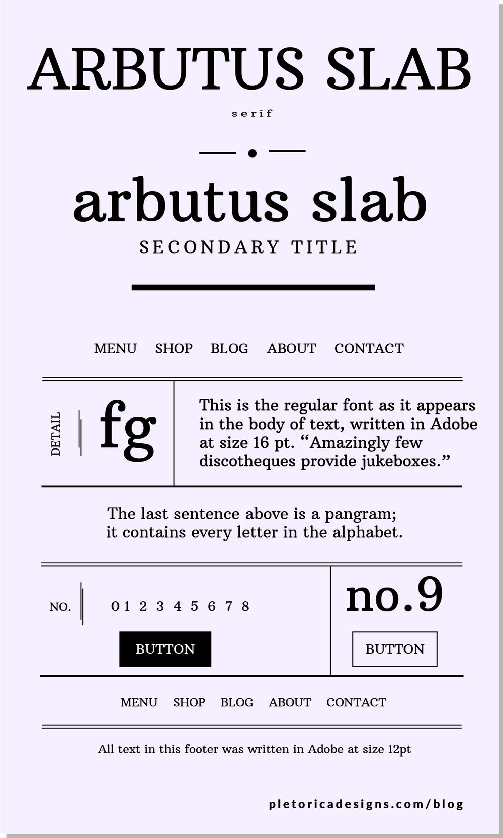 LET'S TYPE: Arbutus Slab — PLETÓRICA DESIGNS