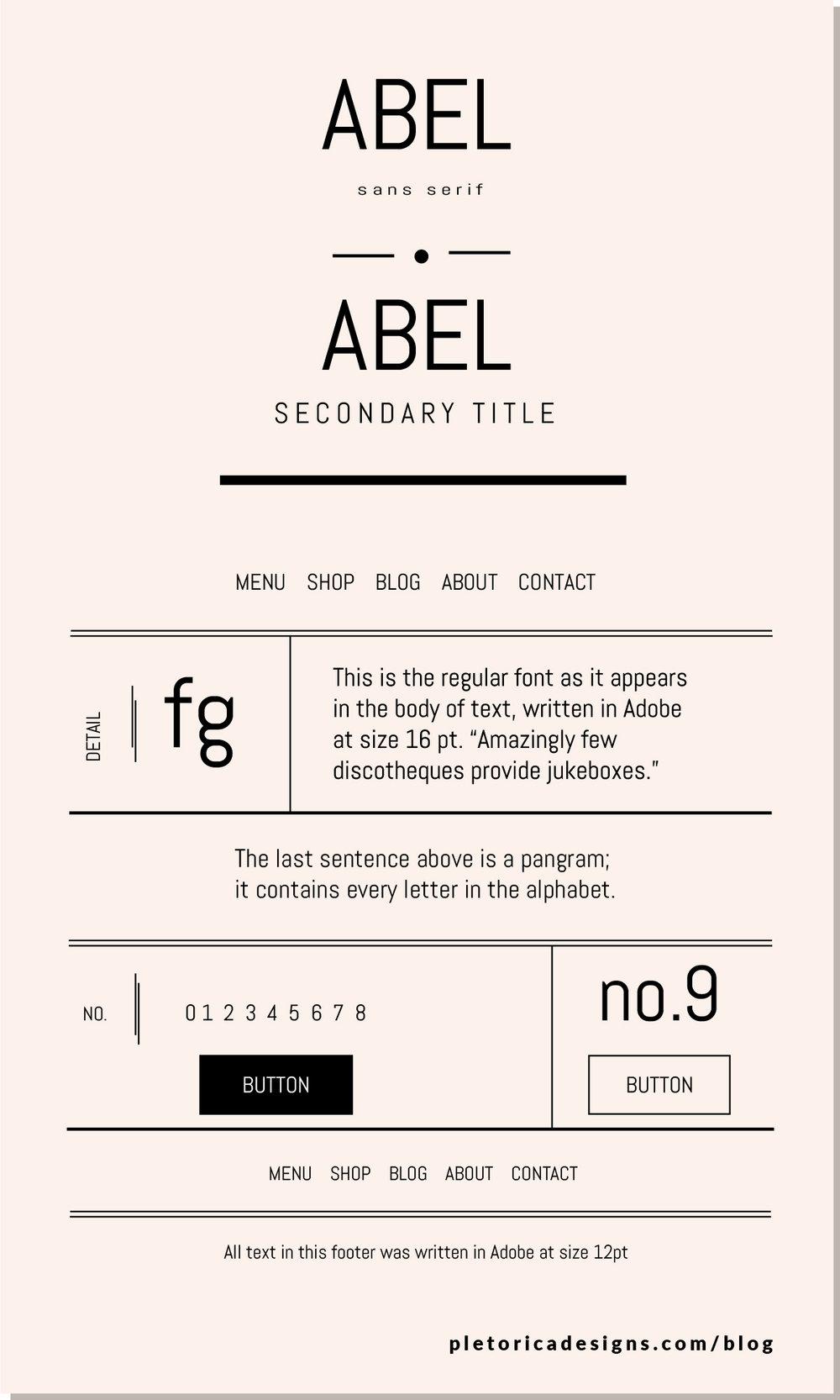 LET'S TYPE: Abel — PLETÓRICA DESIGNS