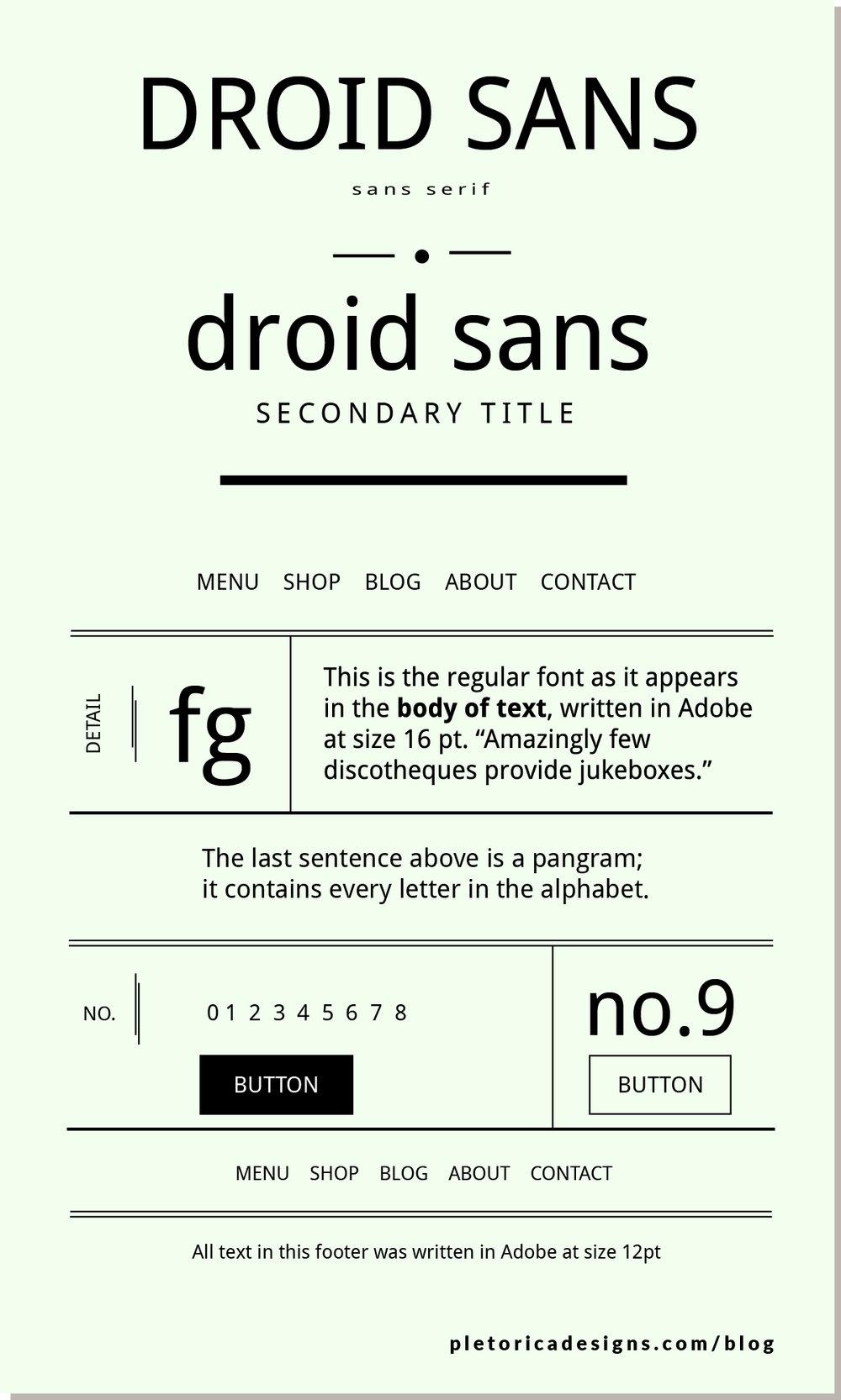 LET'S TYPE: Droid Sans — PLETÓRICA DESIGNS
