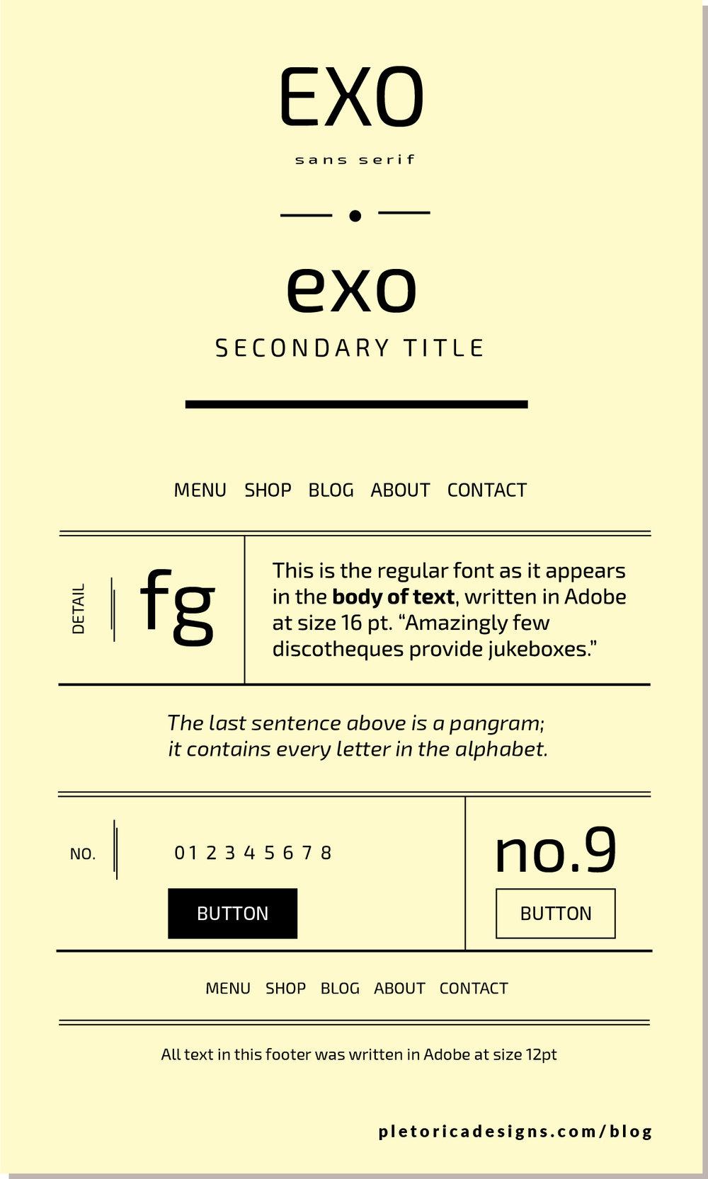 LET'S TYPE: Exo — PLETÓRICA DESIGNS