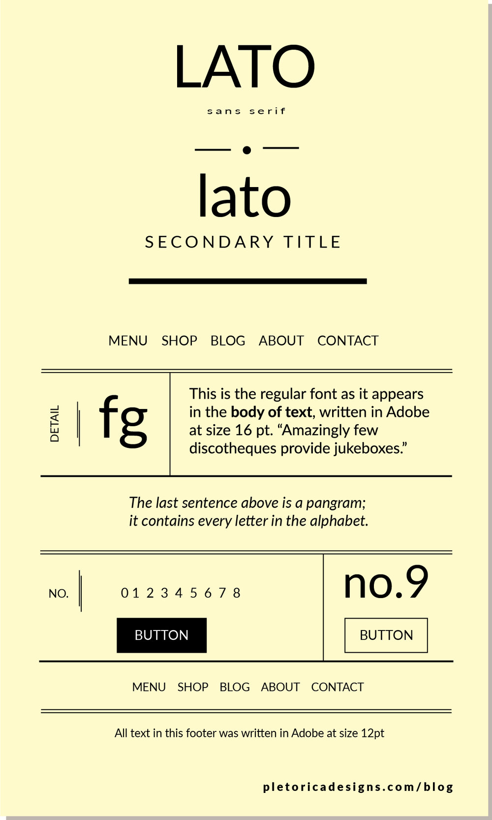 LET'S TYPE: Lato — PLETÓRICA DESIGNS