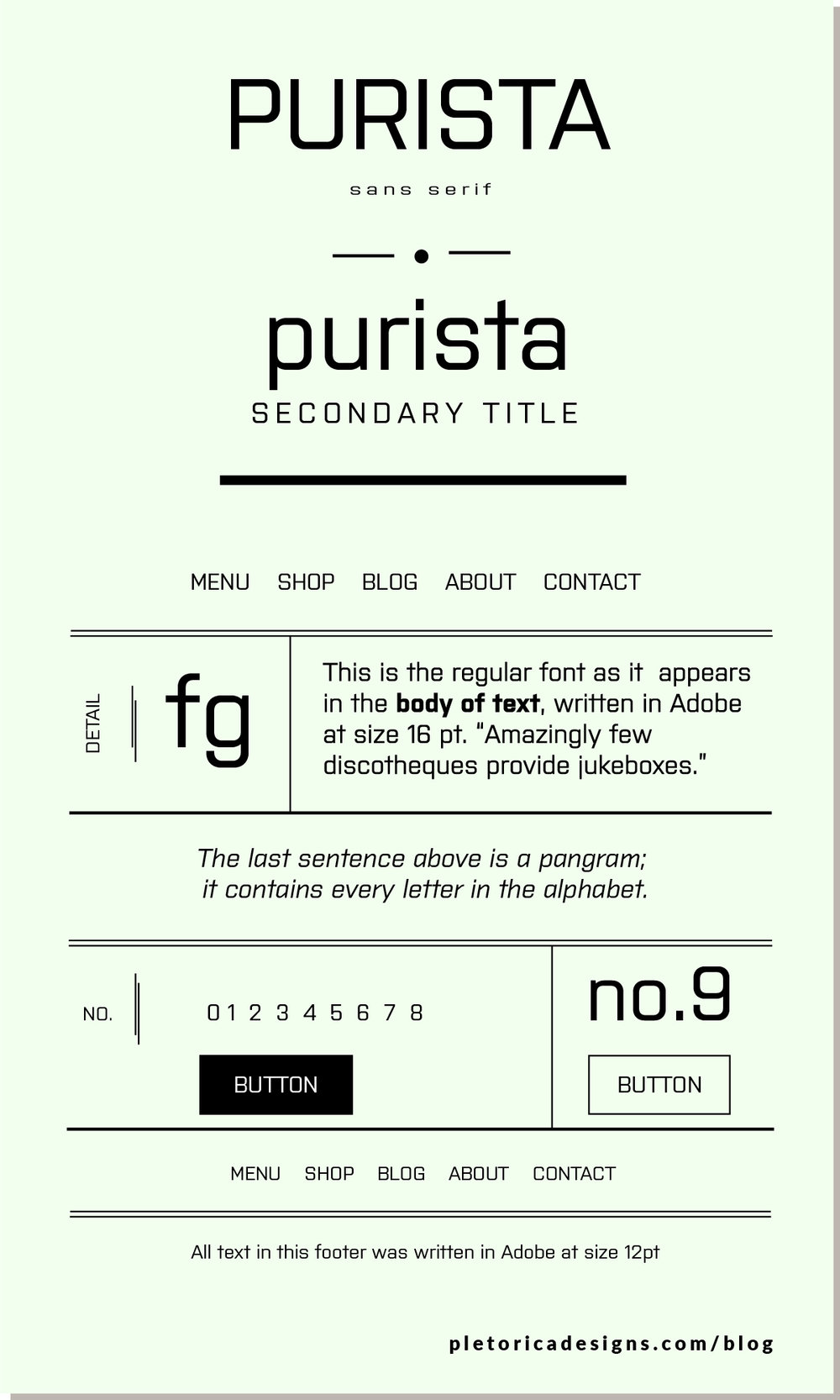 LET'S TYPE: Purista — PLETÓRICA DESIGNS