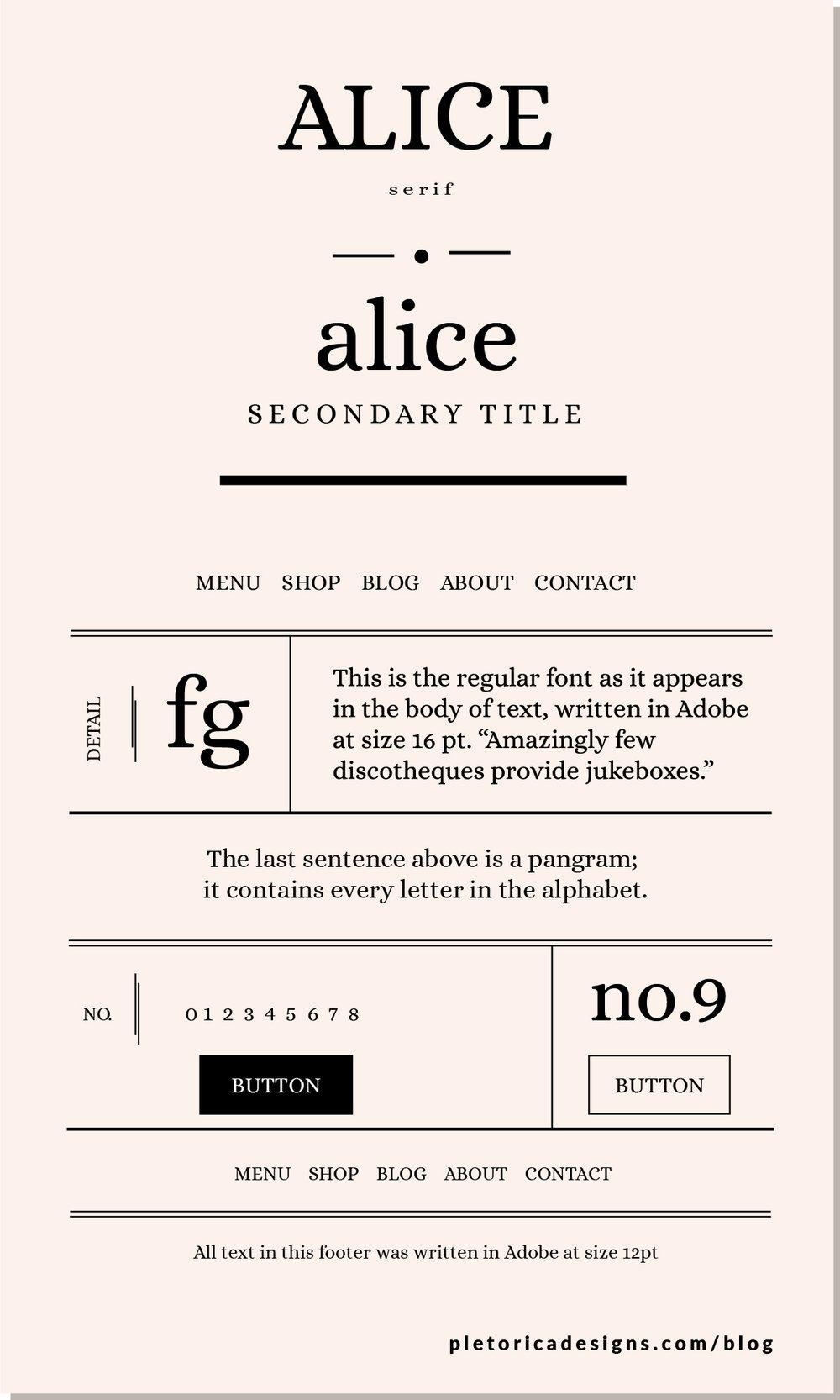 LET'S TYPE: Alice — PLETÓRICA DESIGNS