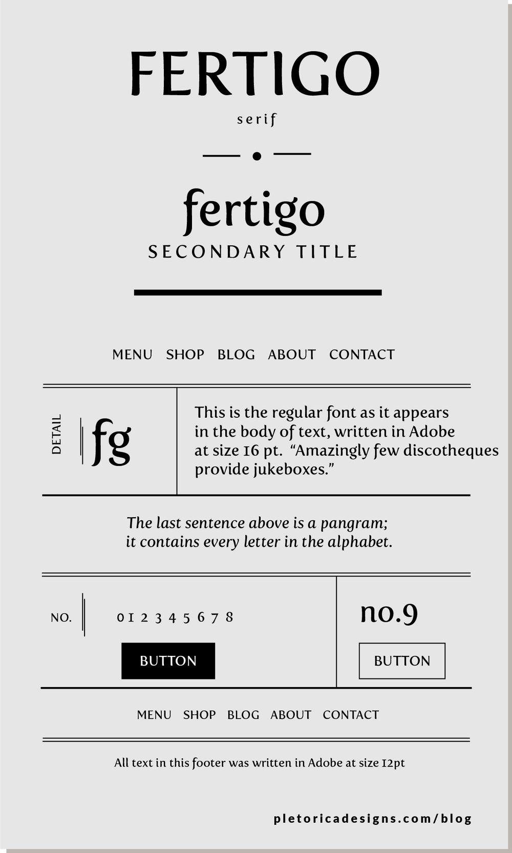 LET'S TYPE: Fertigo — PLETÓRICA DESIGNS