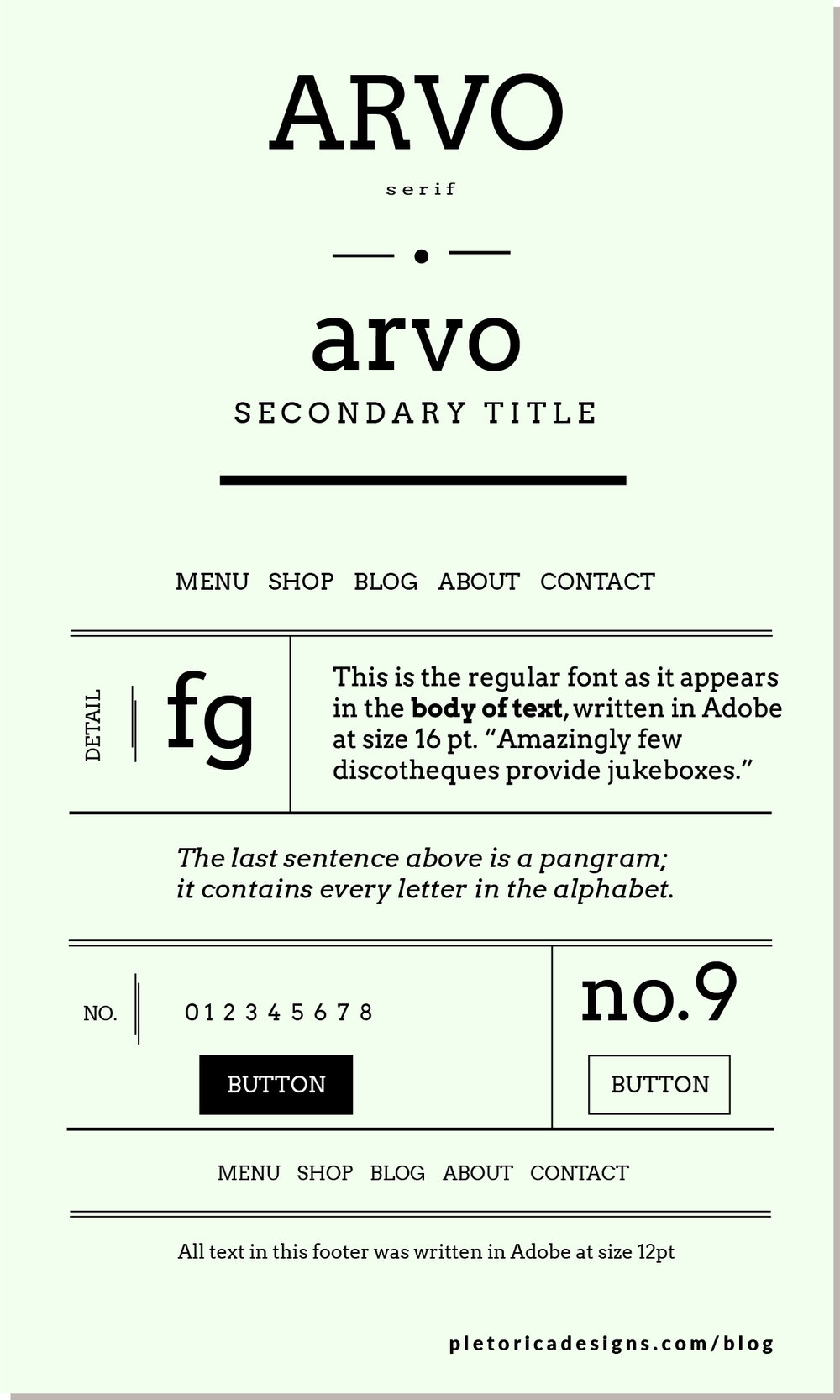 LET'S TYPE: Arvo — PLETÓRICA DESIGNS