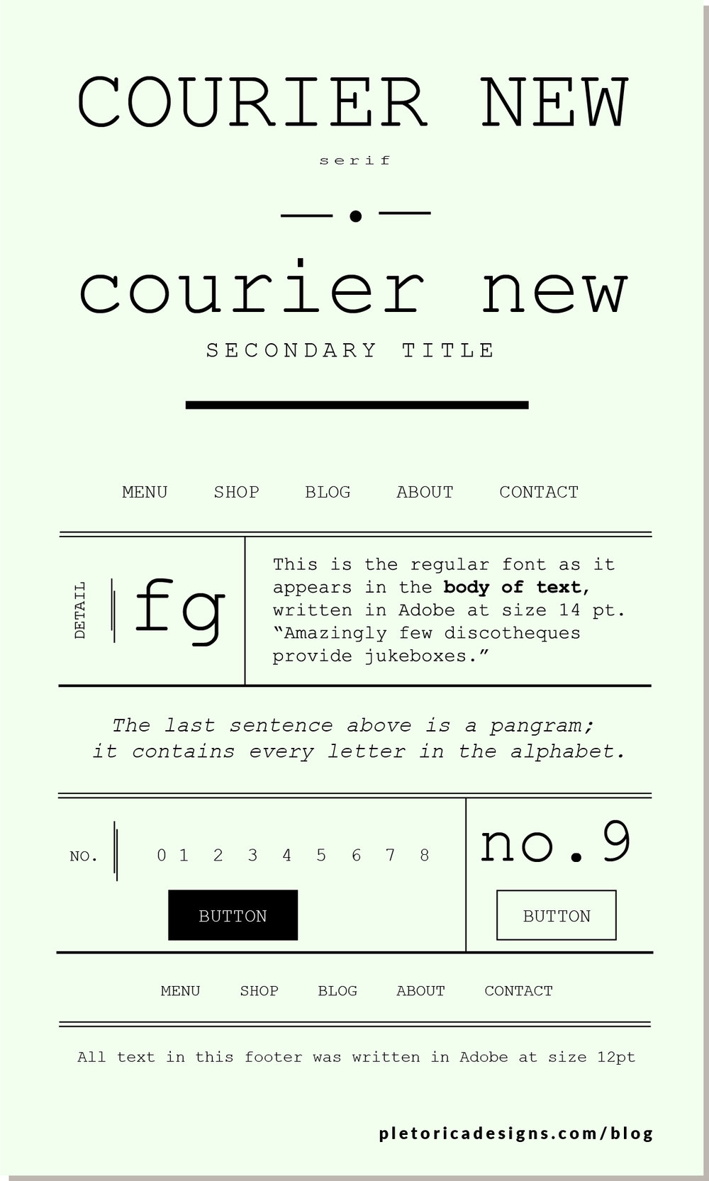 LET'S TYPE: Courier New — PLETÓRICA DESIGNS