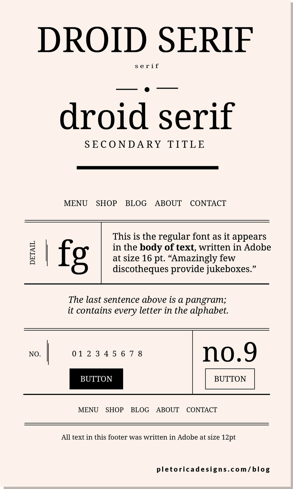 LET'S TYPE: Droid Serif — PLETÓRICA DESIGNS