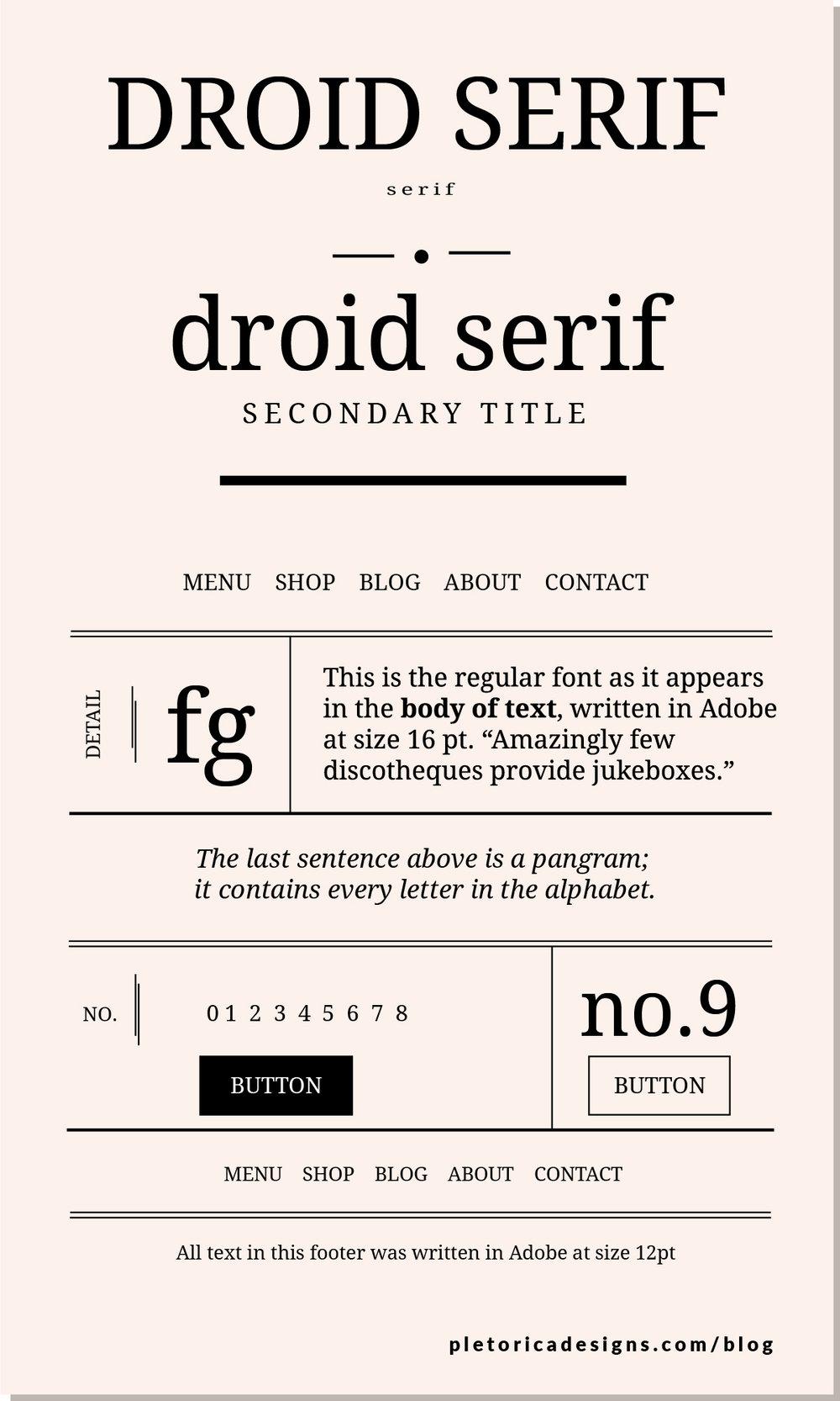 LET'S TYPE: Droid Serif — PLETÓRICA DESIGNS