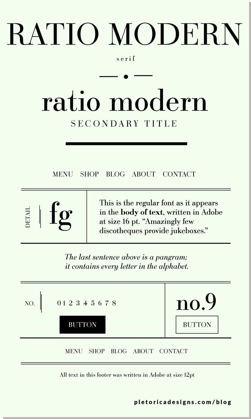 LET'S TYPE: Ratio Modern — PLETÓRICA DESIGNS