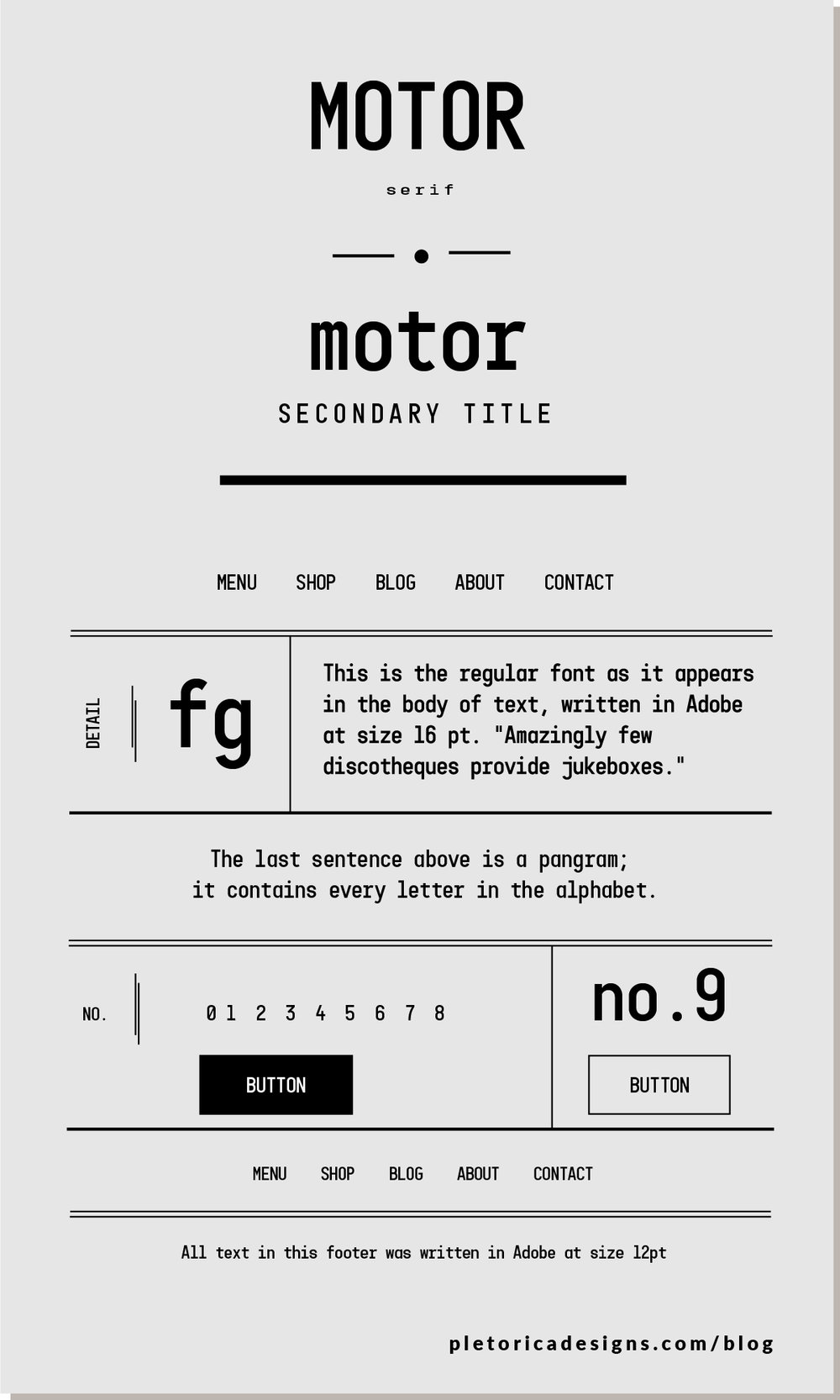 LET'S TYPE: Motor — PLETÓRICA DESIGNS