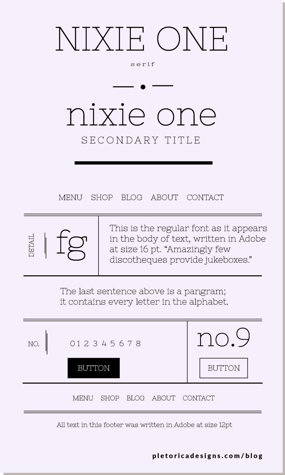 LET'S TYPE: Nixie One — PLETÓRICA DESIGNS
