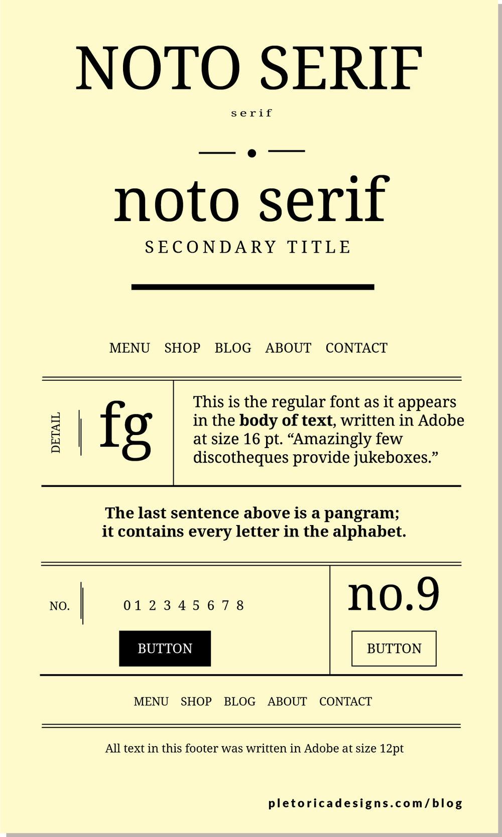 LET'S TYPE: Noto Serif — PLETÓRICA DESIGNS