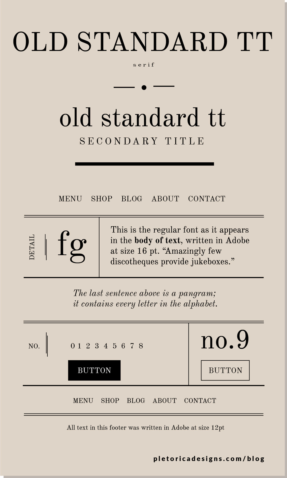 LET'S TYPE: Old Standard TT — PLETÓRICA DESIGNS