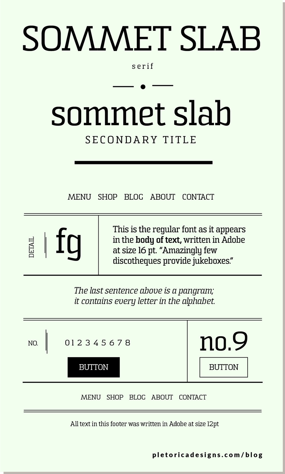 LET'S TYPE: Sommet Slab — PLETÓRICA DESIGNS