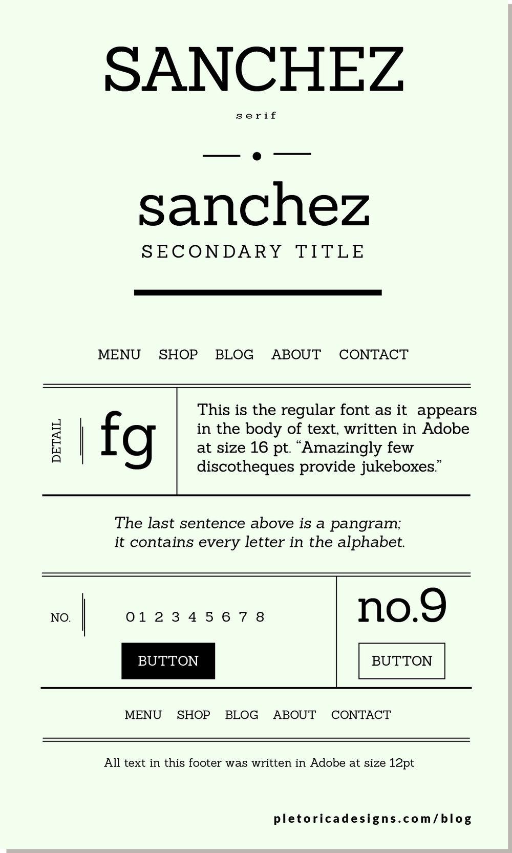 LET'S TYPE: Sanchez — PLETÓRICA DESIGNS