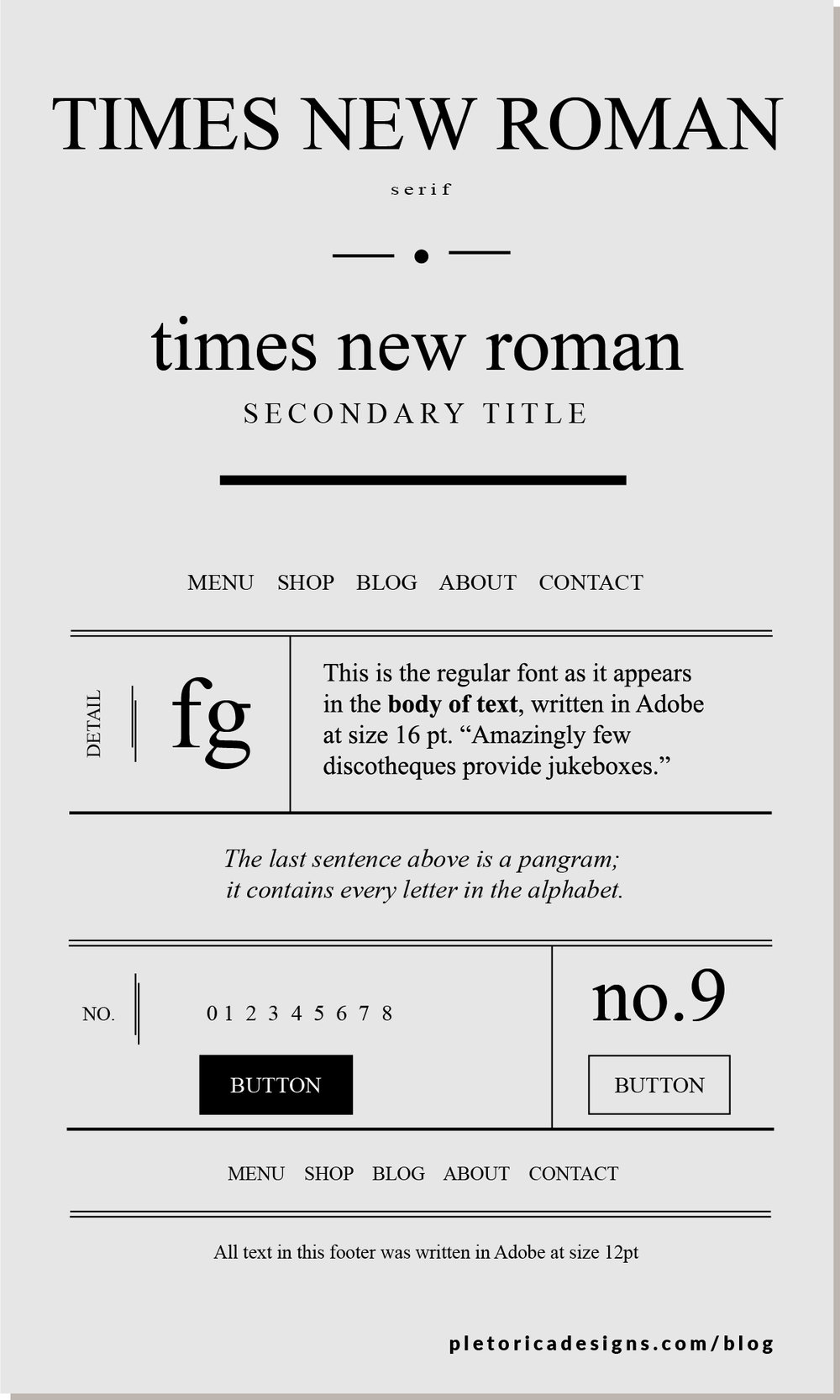 LET'S TYPE: Times New Roman — PLETÓRICA DESIGNS