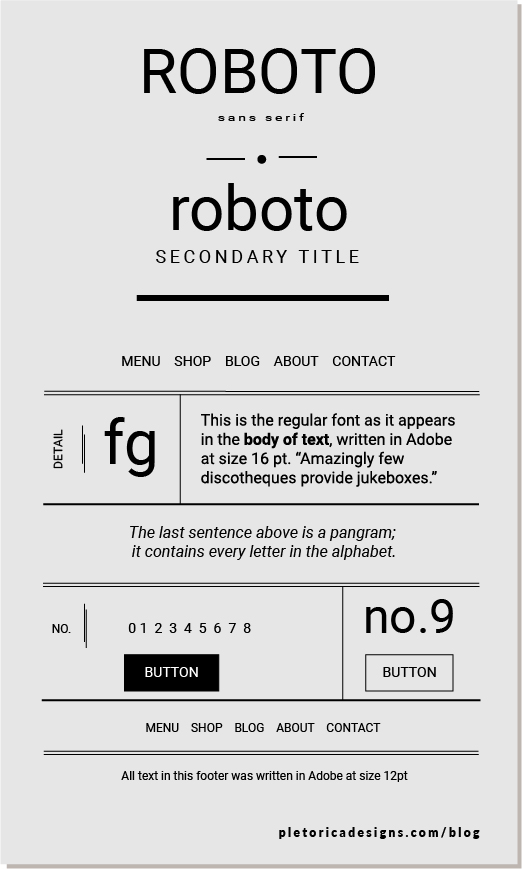 LET'S TYPE: Roboto — PLETÓRICA DESIGNS
