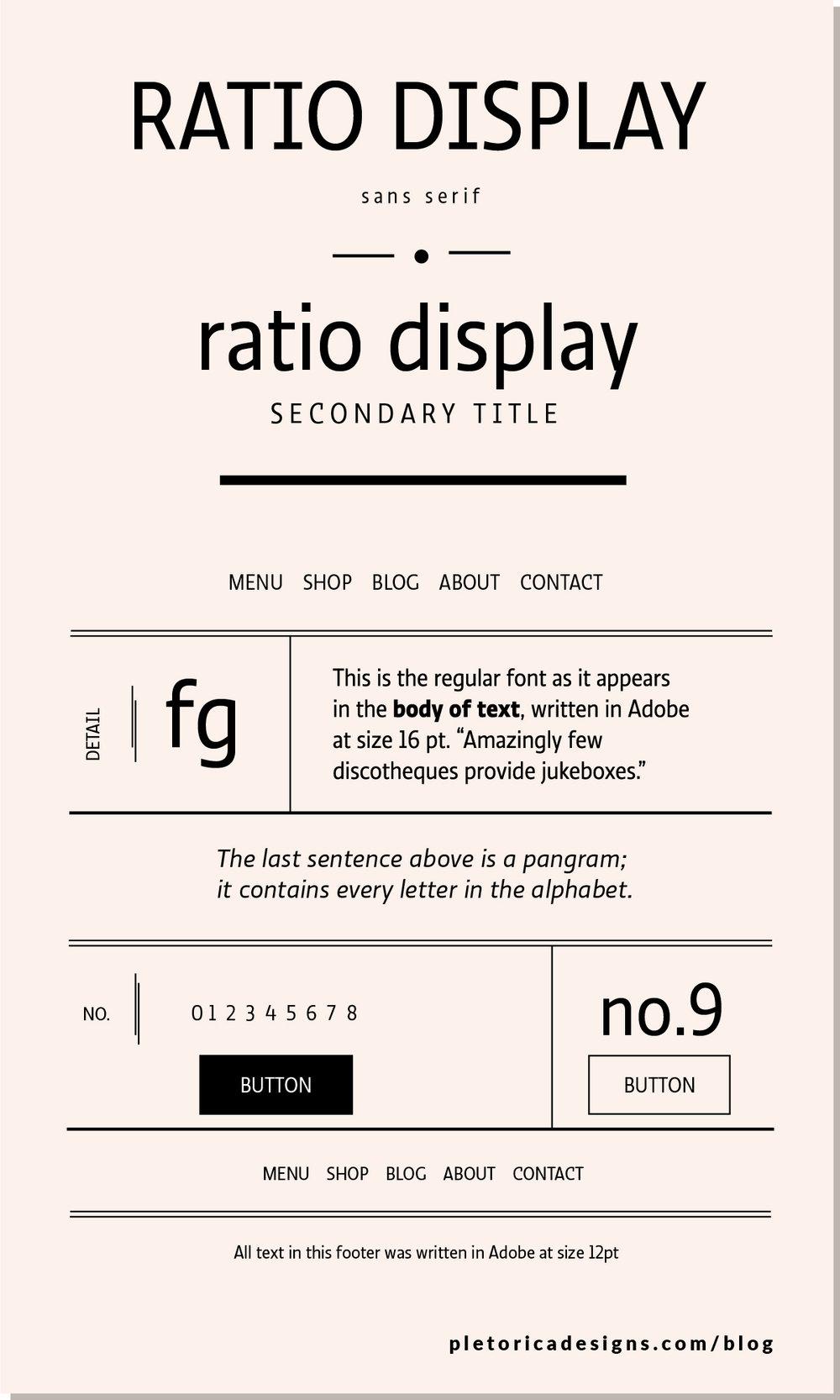LET'S TYPE: Ratio Display — PLETÓRICA DESIGNS
