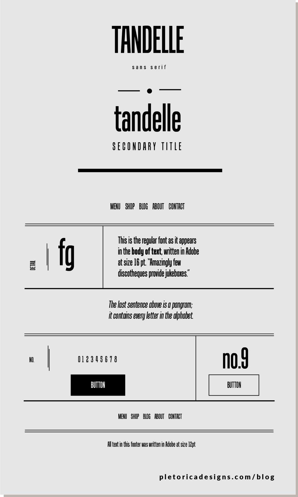 LET'S TYPE: Tandelle — PLETÓRICA DESIGNS