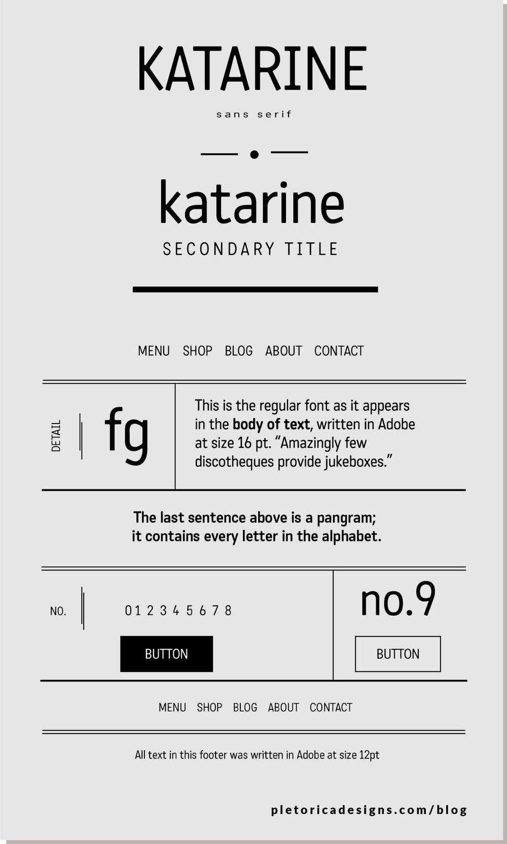 LET'S TYPE: Katarine — PLETÓRICA DESIGNS