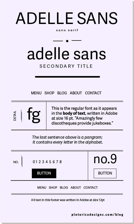 LET'S TYPE: Adelle Sans — PLETÓRICA DESIGNS