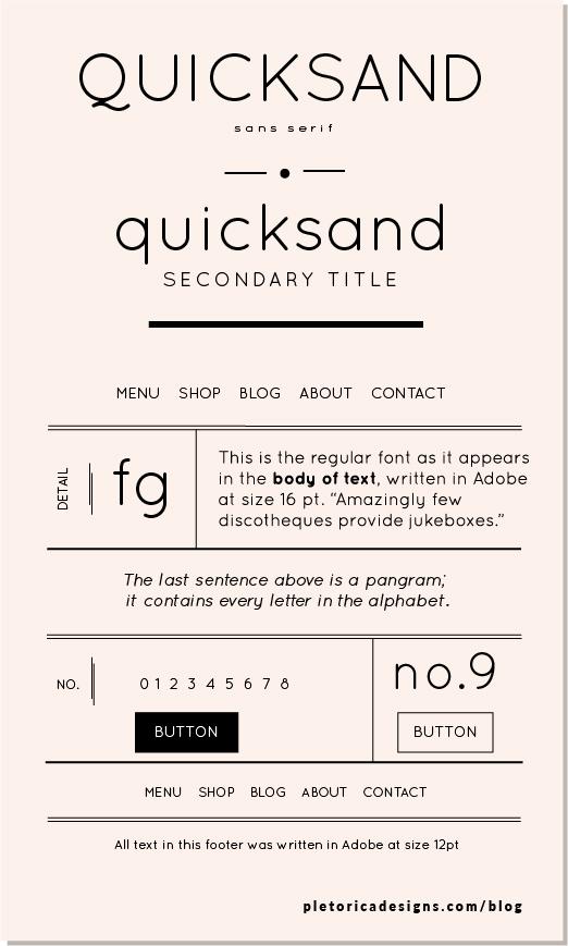 LET'S TYPE: Quicksand — PLETÓRICA DESIGNS