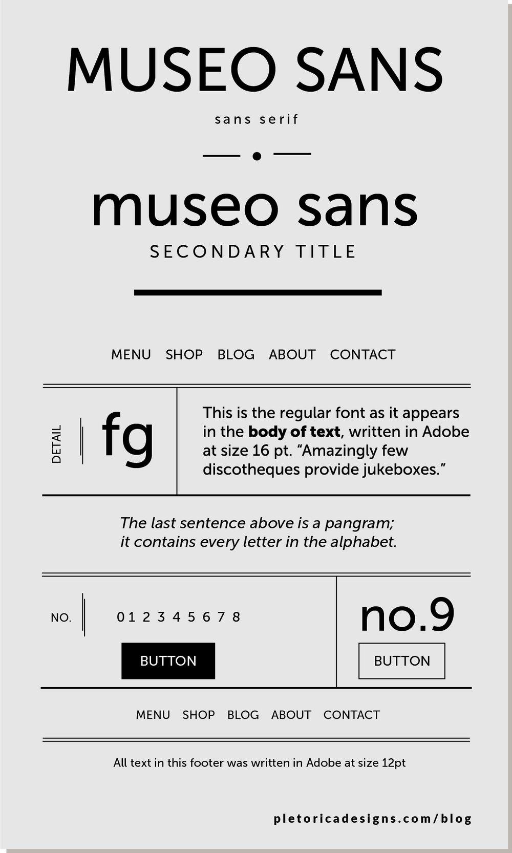 LET'S TYPE: Museo Sans — PLETÓRICA DESIGNS