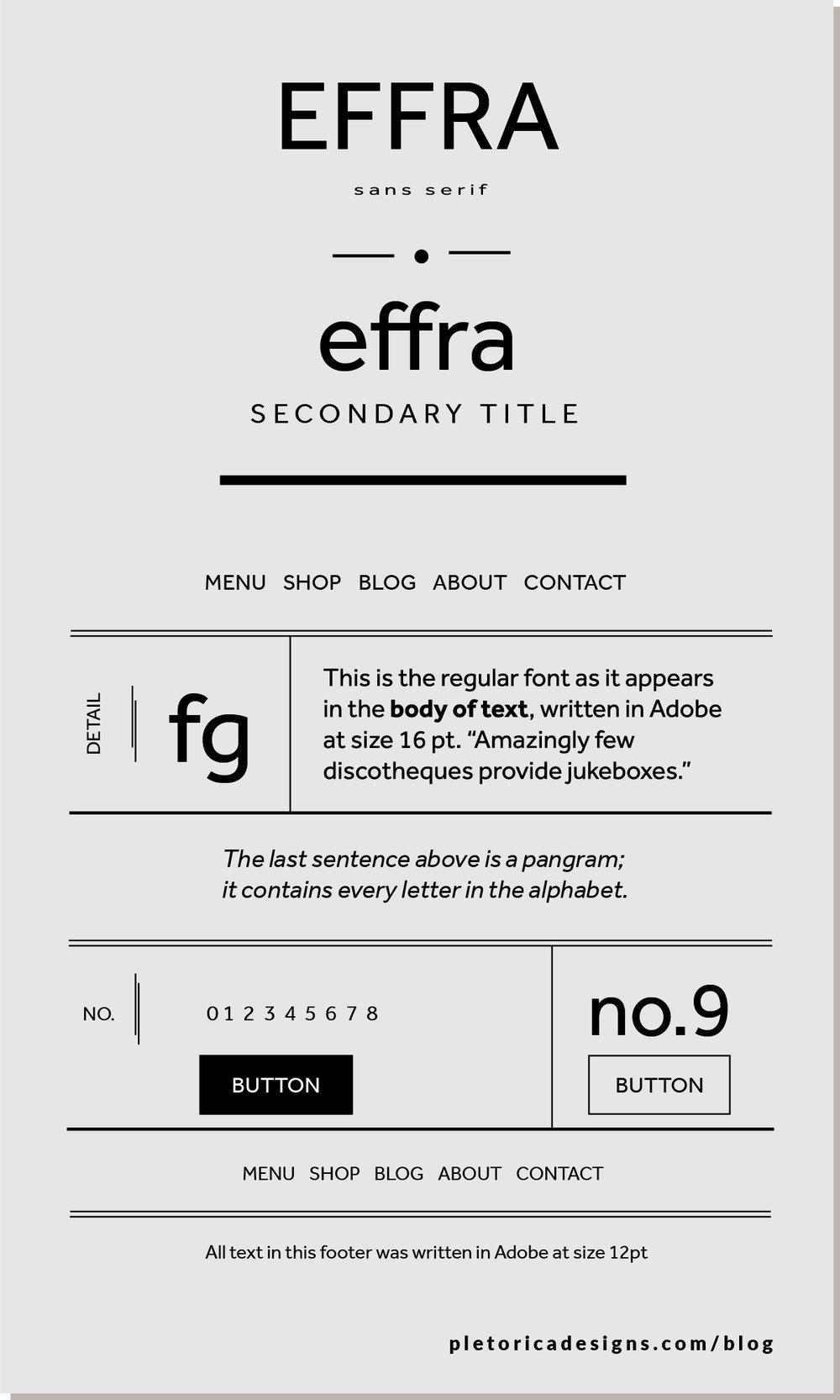 LET'S TYPE: Effra — PLETÓRICA DESIGNS