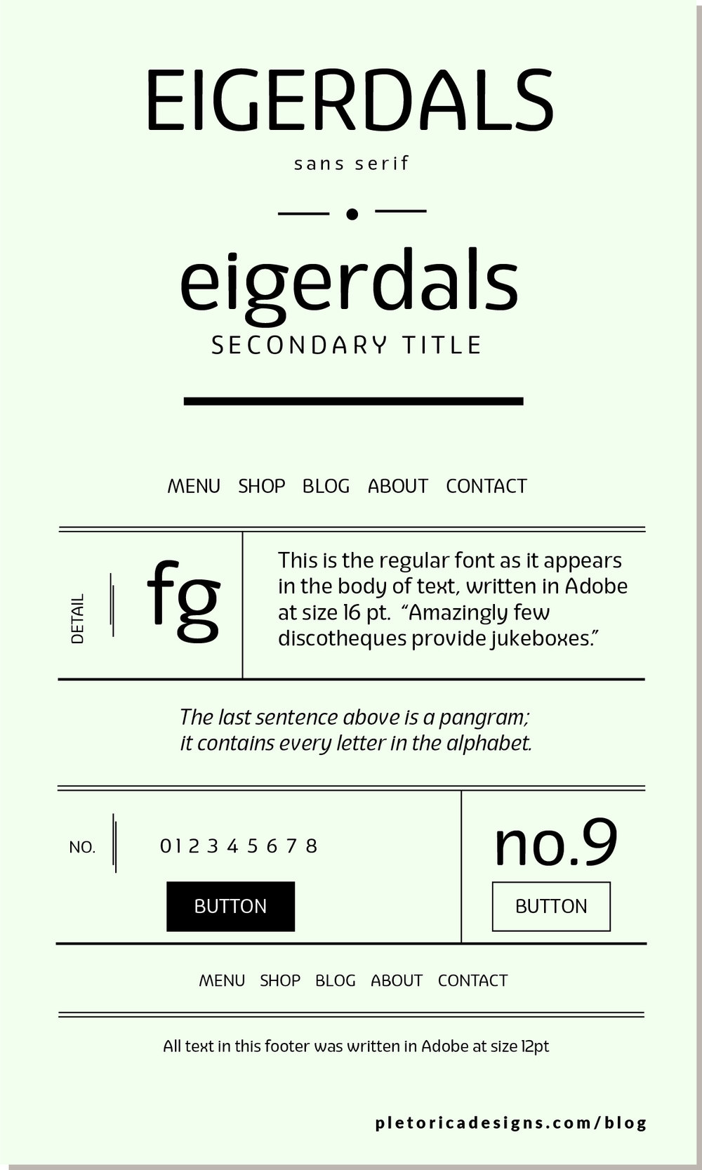 LET'S TYPE: Eigerdals — PLETÓRICA DESIGNS