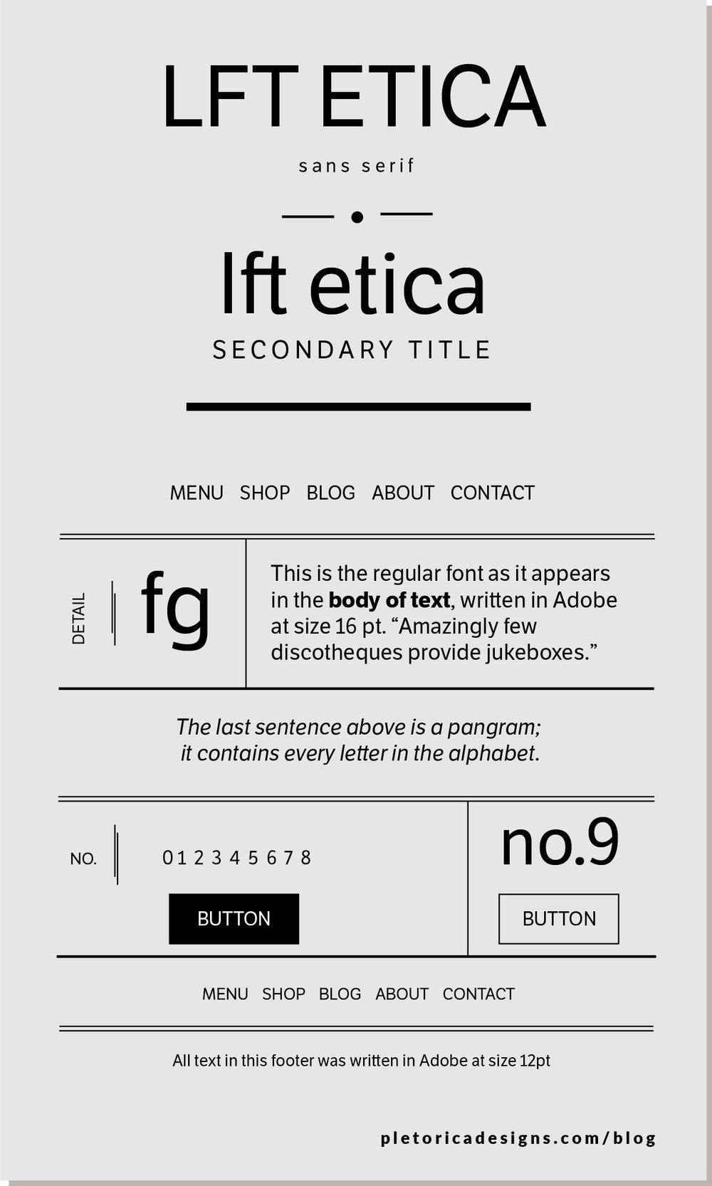 LET'S TYPE: LFT Etica — PLETÓRICA DESIGNS