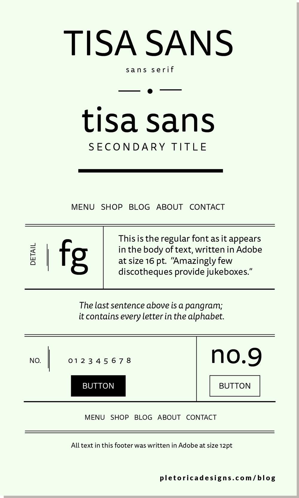 LET'S TYPE: Tisa Sans — PLETÓRICA DESIGNS