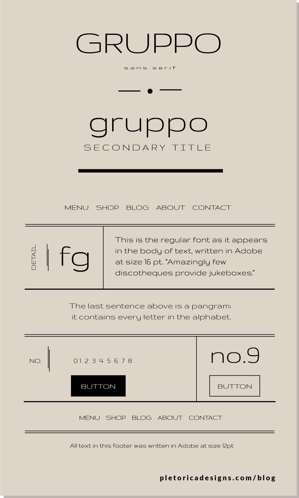 LET'S TYPE: Gruppo — PLETÓRICA DESIGNS