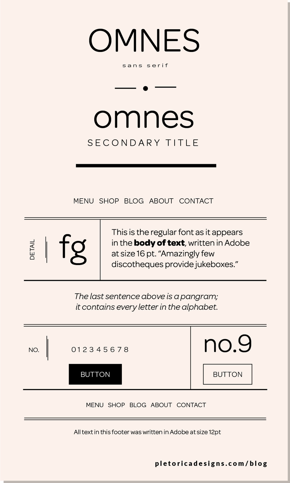 LET'S TYPE: Omnes — PLETÓRICA DESIGNS