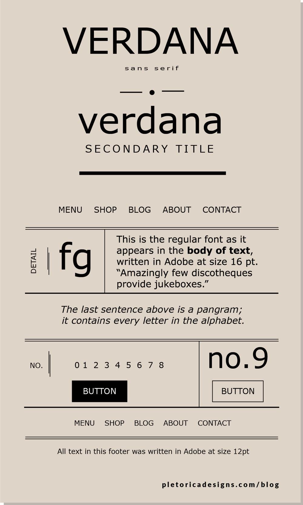 LET'S TYPE: Verdana — PLETÓRICA DESIGNS