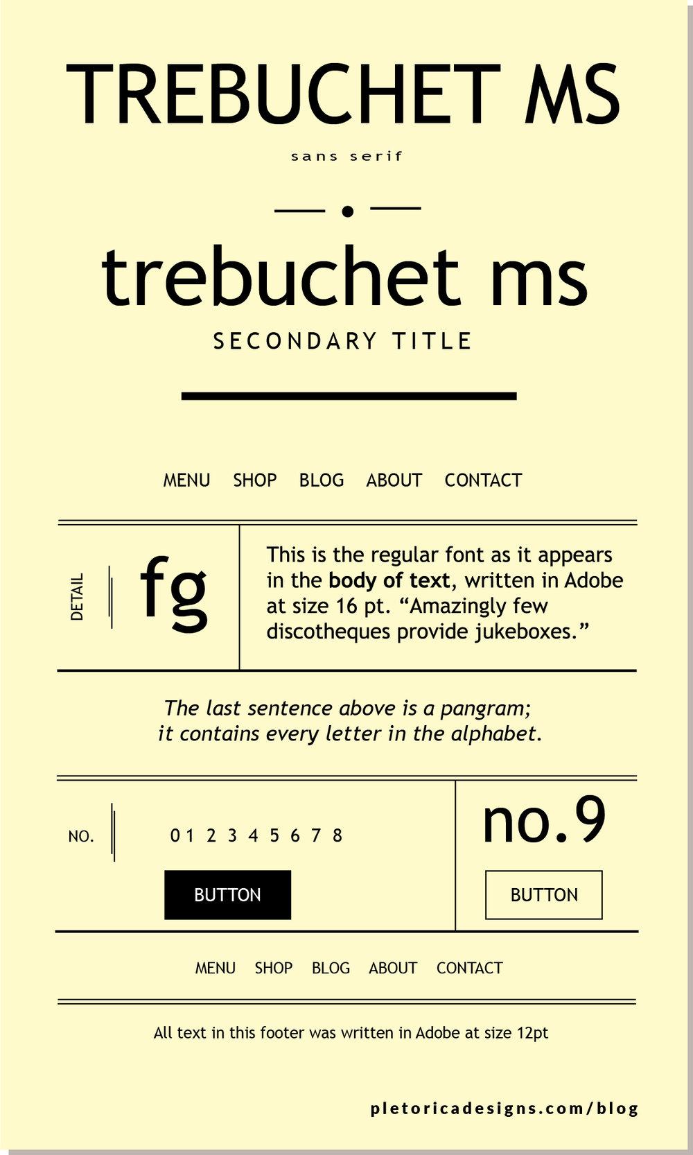 LET'S TYPE: Trebuchet MS — PLETÓRICA DESIGNS