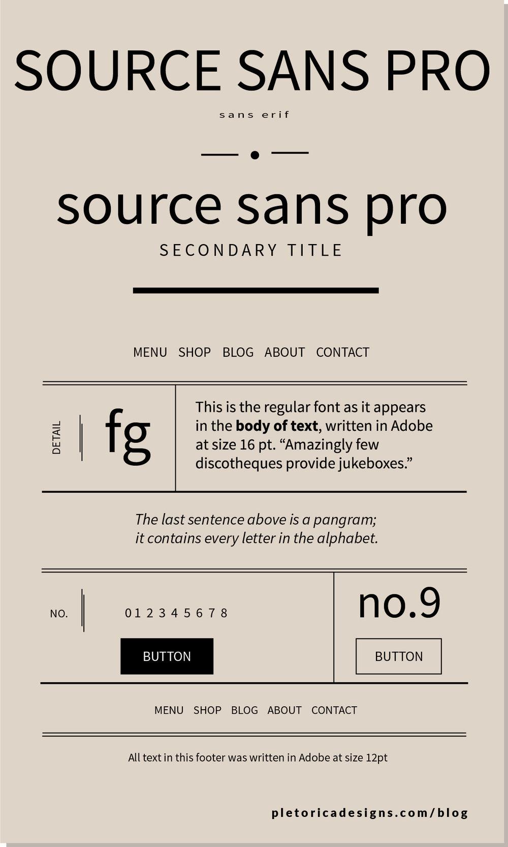 LET'S TYPE: Source Sans Pro — PLETÓRICA DESIGNS