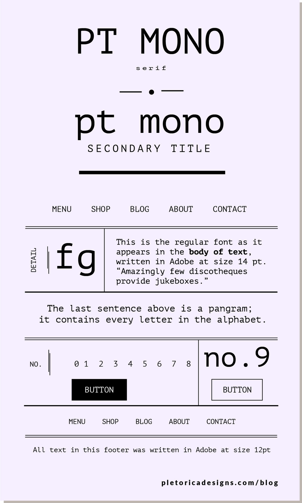 LET'S TYPE: PT Mono — PLETÓRICA DESIGNS