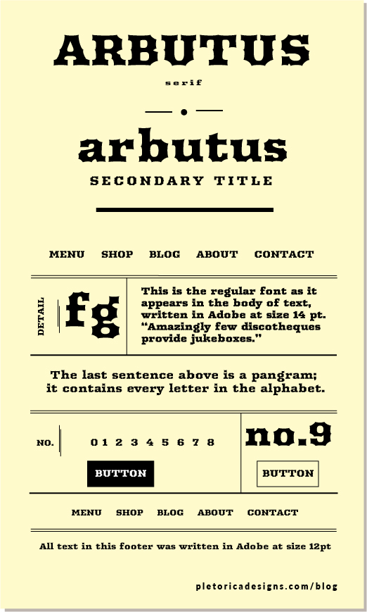 LET'S TYPE: Arbutus — PLETÓRICA DESIGNS