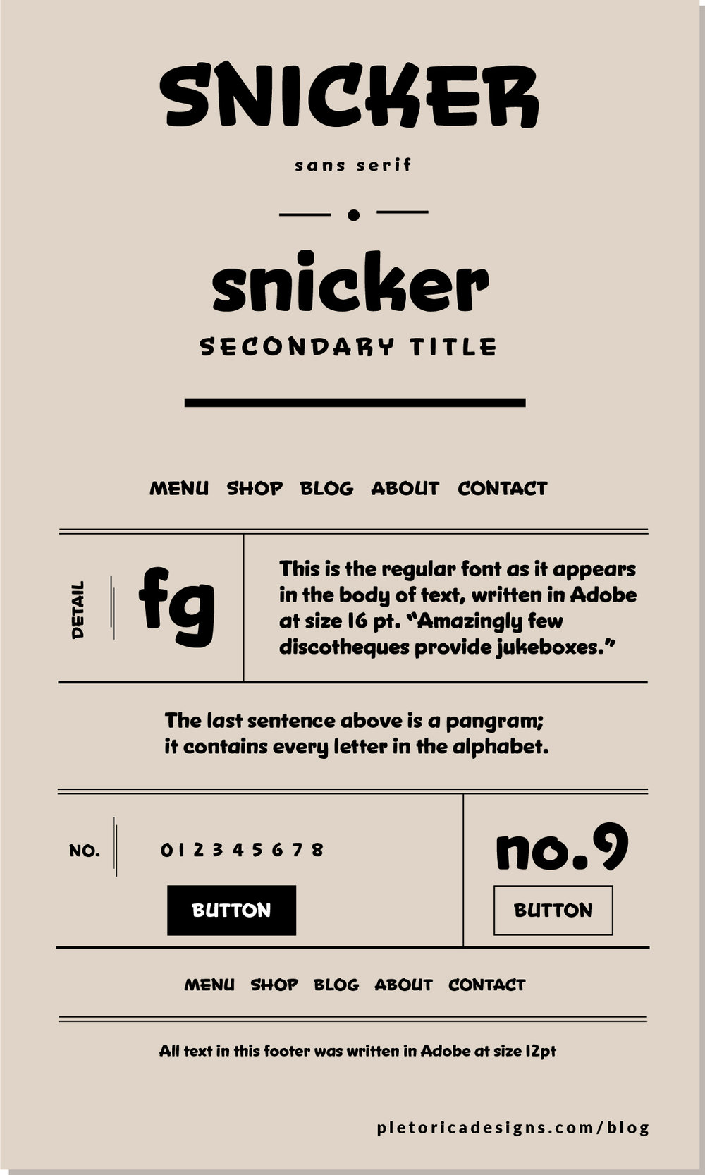 LET'S TYPE: Snicker — PLETÓRICA DESIGNS