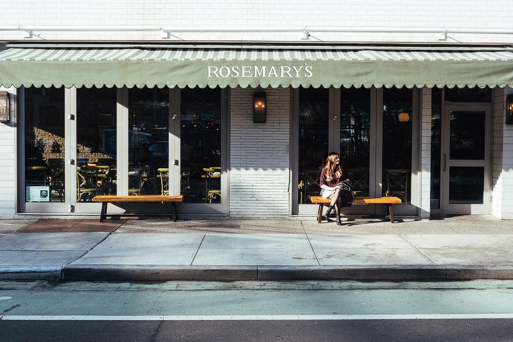 El restaurante  Rosemary's  en el West Village de Nueva York. Foto:  Robert Bye