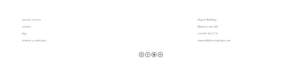 Iconos de redes sociales en la  plantilla Allegra .