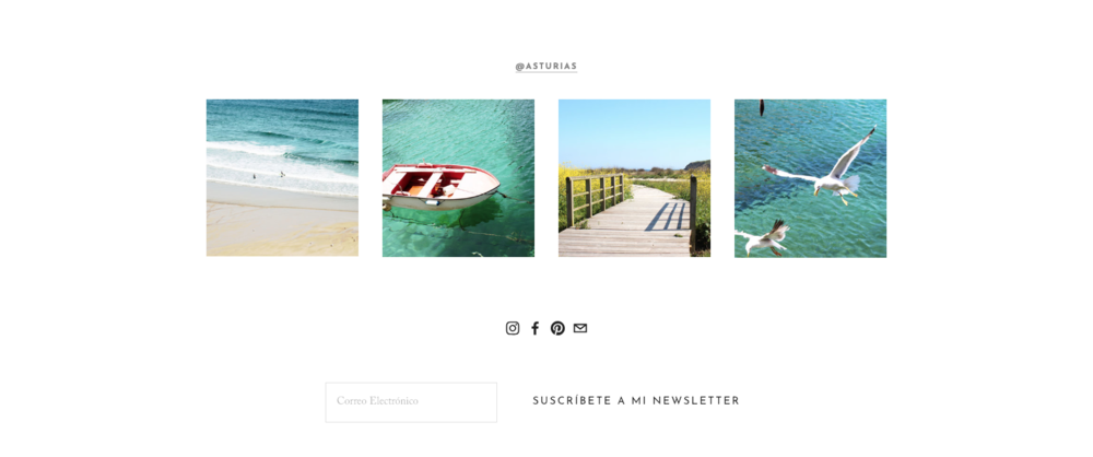 A simple newsletter subscription box at the bottom of our template  Asturias .