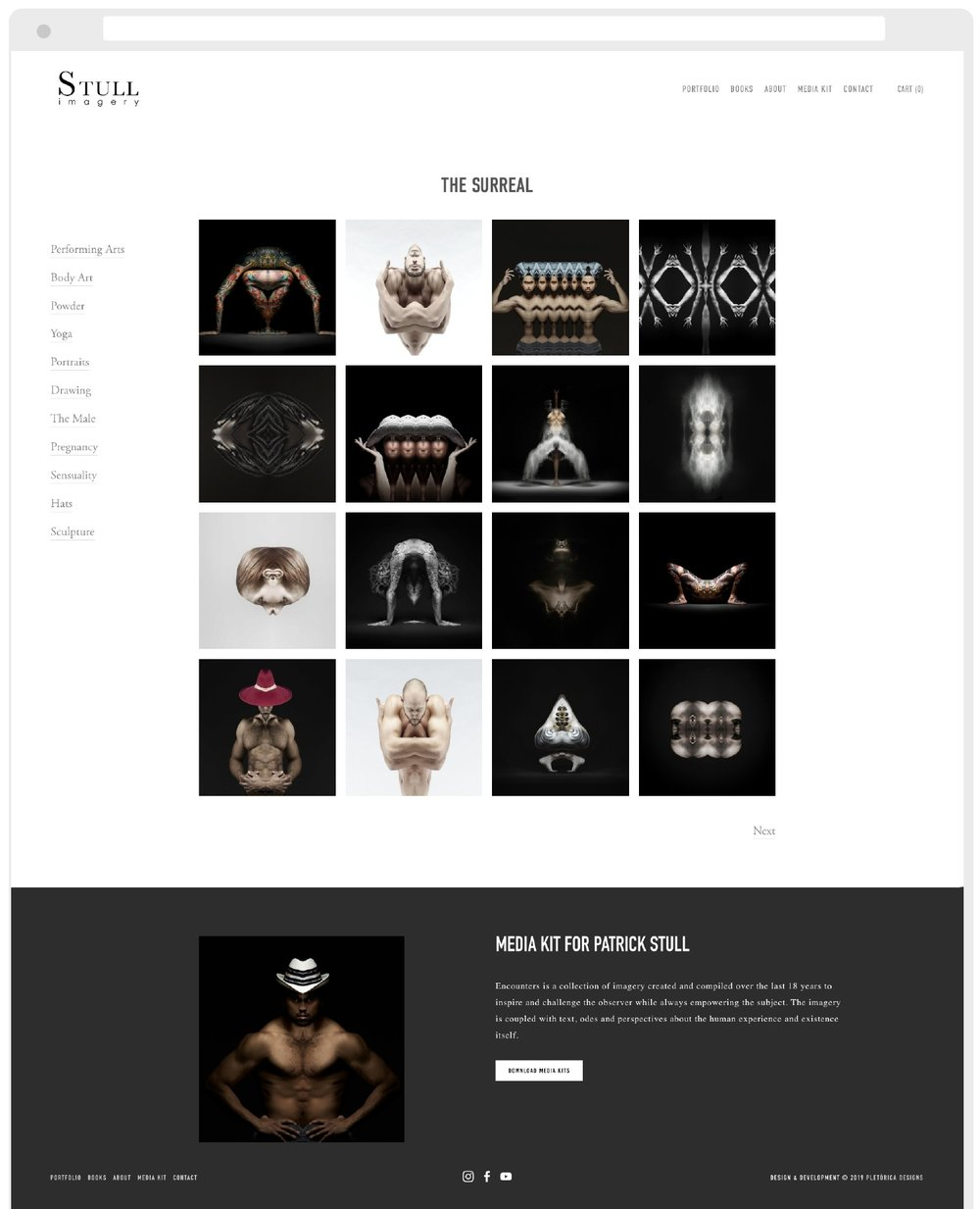 Patrick Stull Imagery Squarespace Website by PLETÓRICA DESIGNS