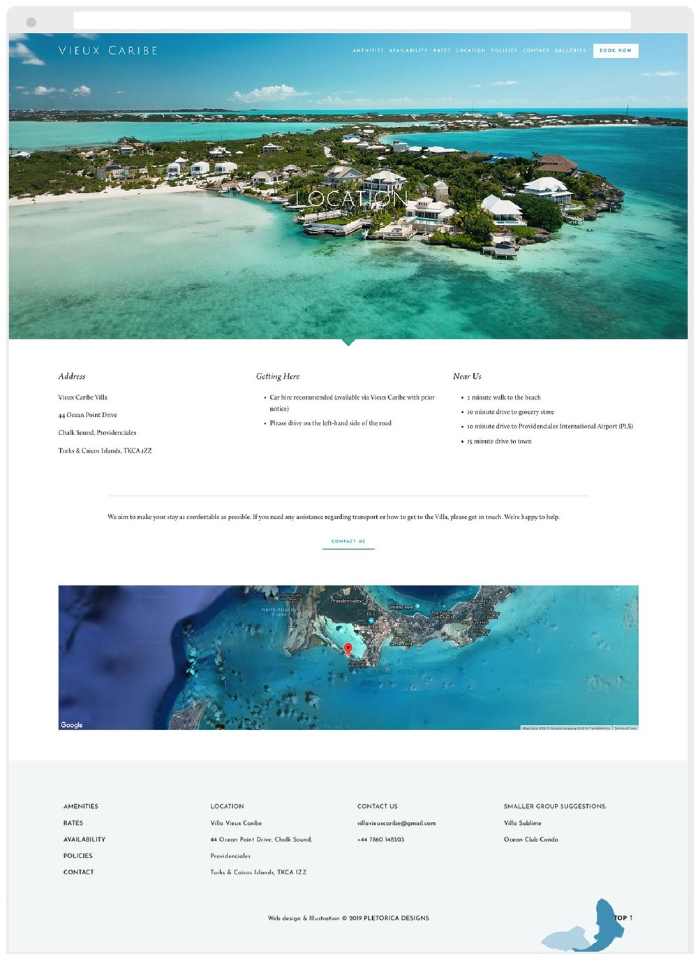 Copy of Vieux Caribe Squarespace Website by PLETÓRICA DESIGNS